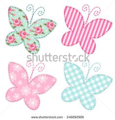 Sewing Projects Here is a lovely collection of free applique templates. Use these beautiful and happy butterfly shapes to brighten up any pillow or pillow case. Tutorial Applique, Free Applique Patterns, Baby Applique, Sewing Appliques, Applique Quilts, Sewing Patterns Free, Embroidery Patterns, Quilt Patterns, Free Pattern