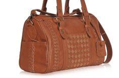 HAJ. Marrón bolso de cuero / bolsa de viaje noche bolso por BaliELF