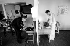 Wedding photography, getting ready