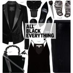 Velvet - Monochrome black