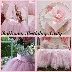 Ballerina Birthday Party. love the table tutu