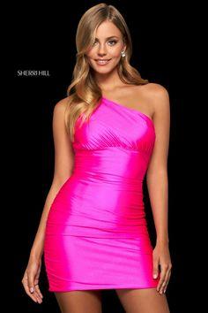 Sherri Hill Dress 53993 – Terry Costa Sherri Hill Homecoming Dresses, Pink Prom Dresses, Designer Prom Dresses, Formal Dresses, Formal Prom, Satin Dresses, Formal Wear, Gowns, Cocktail Length Dress
