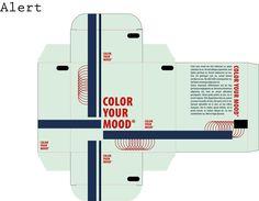 Plano: Alert 3 Het contrast tussen de koude kleuren en de warme kleur van de titels trekt de aandacht, iets wat men verstaat onder alertheid.