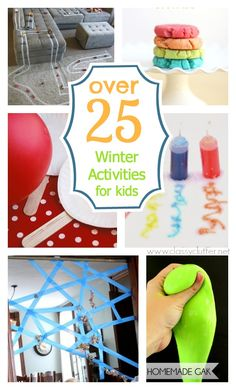 Winter Activities for kids - great ideas for cooped up kiddos in the winter! These are great!