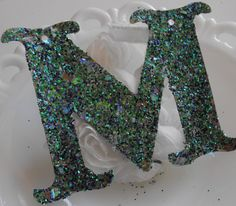 Glitter Letters Custom Recycled Upcycled by ThePaperPeddler, $4.00