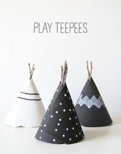 DIY: play teepees