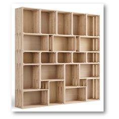 Caisse à monter Home box pin , l.51.2 x P.38.4 x H.28 cm