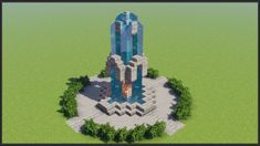Minecraft: How to Build a Fountain Minecraft Mansion, Minecraft Cottage, Cute Minecraft Houses, Amazing Minecraft, Minecraft Crafts, Minecraft Designs, Minecraft Skins, Minecraft Bedroom, Minecraft Stuff
