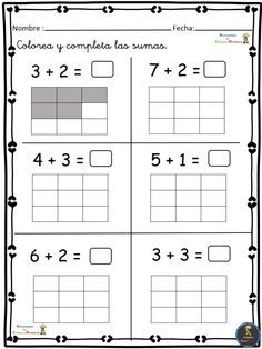 Ejercicios de Matemáticas conteo-sumas-restas Primero Primaria Activities For Girls, Preschool Learning Activities, Homeschool Kindergarten, Math For Kids, Homeschool Curriculum, Fun Math, Math Games, Kids Learning, Kids Math Worksheets