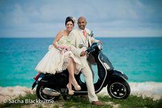 Scooter wedding photo