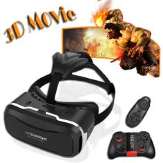17 HOT ! Original Shinecon VR 3D VR Virtual Reality Glasses Google Cardboard Movie Game for 4.5-6.0 inch Smart Phone + Remote //Price: $19.19 & FREE Shipping //     #gameconsole