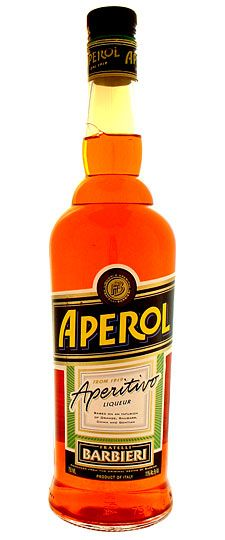 Aperol: Mix with Prosecco in the summer --perfect light cocktail. Serve with Parmasan Crisps.