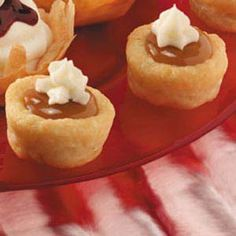 Caramel Tassies-yum.  Need to try this when my sister in laws and I get together for our Christmas baking!