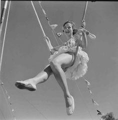 Trapeze artist 1950s