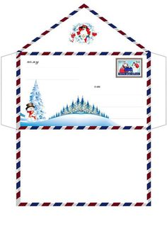 Christmas Envelopes, Christmas Stationery, Christmas Activities, Christmas Printables, Christmas Clipart, Christmas Crafts, Pocket Letter, Note Paper, Writing Paper