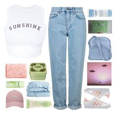 """""""Untitled #2496"""" by tacoxcat ❤ liked on Polyvore featuring Wildfox, Topshop, adidas Originals, Henri Bendel, Pré de Provence, Jil Sander Navy, Fekkai, Impressions, adidas Golf and Aveda"""