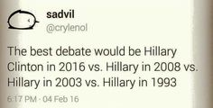 That would be a very interesting debate...
