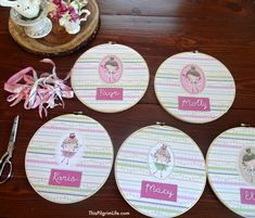 Simple and cute party favors to give out at a little girl's tea party or birthday party. No sewing required and they can be hung up or displayed  in your guest's homes.