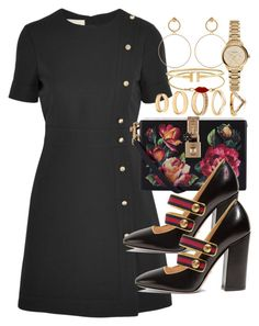 """""""Sin título #4365"""" by hellomissapple on Polyvore featuring moda, Gucci, Dolce&Gabbana, Maria Francesca Pepe, Forever 21, Burberry y CO"""