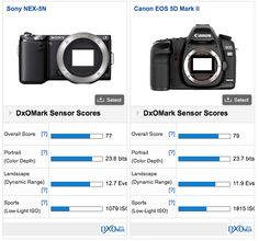 Recently, we pit the Sony NEX 5n against the Canon 5D Mk II and asked you guys and gal to figure out which photo came from which camera: and many of you got the answer right. According to DXOMark, the Canon 5D Mk II outdoes the little NEX 5n by just a hair.