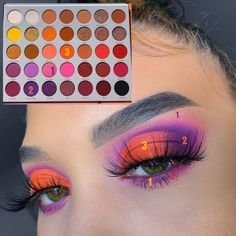 Makeup Eye Looks, Eye Makeup Steps, Eye Makeup Art, Clown Makeup, Cute Makeup, Skin Makeup, Makeup Eyebrows, Flawless Makeup, Gorgeous Makeup