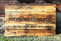 Saunzee Custom Rustic Barn Wood Signs Commercial Business Signs Outdoor Signage…