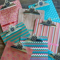 Decorate Your Clipboards with Lable Paper and Washi Tape | Lia Griffith