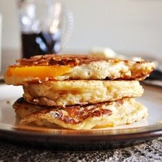 Peach Pancakes by LittleBCooks ~~~ my momma used to make these!!   yum