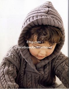 Baby Knitting Patterns Free Knitting Pattern And Tutorial Baby Knitting Patterns, Knitting For Kids, Baby Patterns, Free Knitting, Creative Knitting, Knitting Needles, Knit Baby Sweaters, Ribbed Sweater, Hooded Sweater