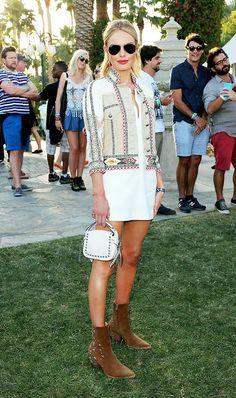 7. White Dress + Western Booties