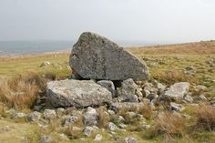 King Arthurs Stone, burial chamber on Cefn Bryn, Gower, South Wales