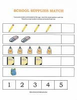 Number Worksheets -- counting objects. From www.preschool-printable-activities.com