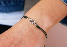 Double Infinity Leather Bracelet For Women Delicate Sterling Silver Double Knot Leather Bracelet Infinity Knot Bracelet Mothers Day gift Silver Bracelets For Women, Sterling Silver Bracelets, Silver Necklaces, Silver Ring, Leather Bracelets, 925 Silver, Silver Earrings, Gold Bracelets, Leather Necklace