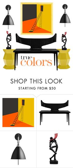 """""""True Colors"""" by conch-lady ❤ liked on Polyvore featuring interior, interiors, interior design, home, home decor, interior decorating, Bestlite and NOVICA"""