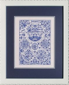 Turkish Delight Monochromatic Cross Stitch Sampler Ink Circles Pattern Rug Desi  #InkCircles