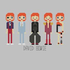 David Bowie Cross Stitch Pattern by YouMakeMeSewHappy on Etsy, $8.99