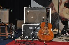 "Trigger - In 1969, Willie Nelson sent one of his banged-up guitars to a repair shop in Nashville. The owner told him he couldn't fix it but he had a Martin for sale that he thought Willie might like. Nelson bought the N-20 for 750 dollars over the phone, sight unseen. After its delivery, he immediately fell in love with the guitar, naming it ""Trigger"" after Roy Rodgers' trusty horse."