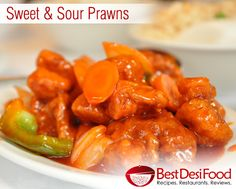 Sweet and Sour Prawns - A mouthwatering recipe of Sweet and Sour Prawns! Prawns with vegetables are cooked in a smooth tomato sauce. Enjoy them with fried rice. Visit: http://www.bestdesifood.com/recipe-113-Sweet%20&%20Sour%20Prawns