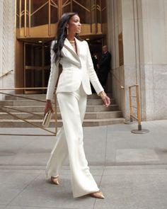 Carolina Herrera-blazer and pants, via MS Weddings-modern-wedding-dresses