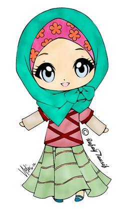 muslim girl clipart - Carian Google