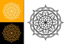 Free vector mandala in svg, eps, png and affinity designer files format.Easy and clean mandala designs. Can be used in circuit or web using the svg files, print to color using png files, or for cutter plotter eps format. Affinity Designer, Mandala Design, Vector Free