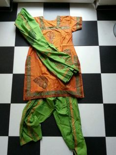 3-tlg Bollywood Salwar Kameez Sari Kleid Anarkali Dupatta Tuch Hose indisch pump