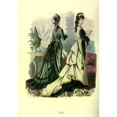 Dame Fashion 1913 Woman of 1875 Canvas Art - Unknown (18 x 24)