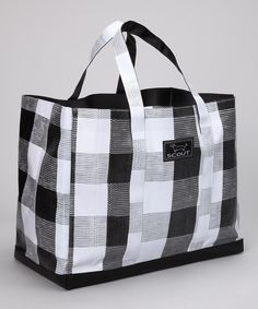 Take a look at this Black Gingham Orignial Deano Tote on zulily today!