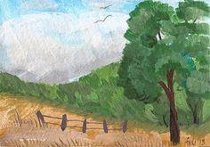 Nature Landscape  ACEO ORIGINAL  Landscape  by FELICITATEM on Etsy, $5.50