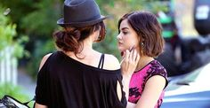 Exclusive pics: Go behind the scenes of #PLL with @LucyHale -- and see her get glam! http://usm.ag/1FkJ7kC