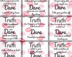 relationship games Truth or dare for couples - games for couples - couple games - games - paper games - dirty couple games - dirty games for couples - couple Love Games For Couples, Dares For Couples, Question Games For Couples, Drinking Games For Couples, Games For Teens, Fun Couple Games, Valentines Games For Couples, Kids Valentines, Sleepover Games