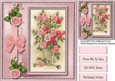 Beautiful Vase Of Pink Roses