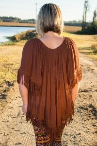 Friends in Low Places Tunic Dress - Brown Love this :D and say yes to fringe ALWAYS  Regular price $49 code: CD10 for 10% off