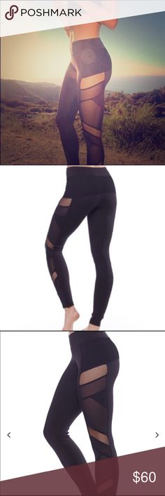 Sexy mesh leggings Back in stock :) sexy and classy. Look and feel like Lululemon leggings. Great quality leggings from Electric yoga. Electric Yoga Pants Leggings